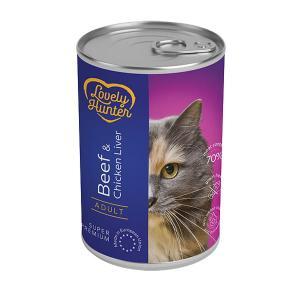 Lovely Hunter beef & chicken liver Adult Cats 400g