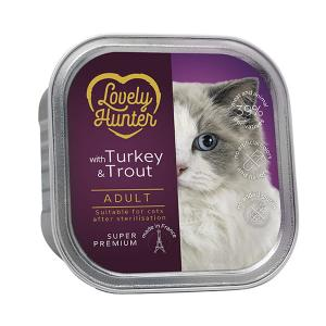 Lovely Hunter Adult Cat Turkey & Trout 85g