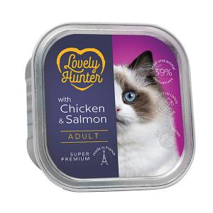 Lovely Hunter Adult Cat Chicken & Salmon 85g