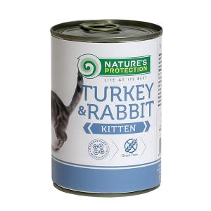 Nature's Protection KITTEN indyk & królik 400g