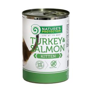 Nature's Protection KITTEN indyk & łosoś 400g