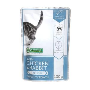 "Nature's Protection Kitten Chicken & Rabbit ""Healthy growth"" 100g"