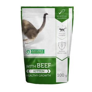 "Nature's Protection Kitten Beef ""Healthy Growth"" 100g"