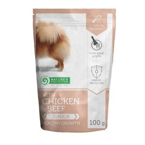 NP Mini Junior Beef & Chicken Dog 100g sasz.