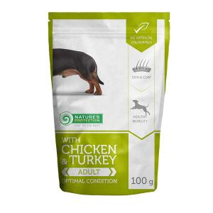 Nature's Protection Adult Dog Chicken & Turkey Small Breeds 100g